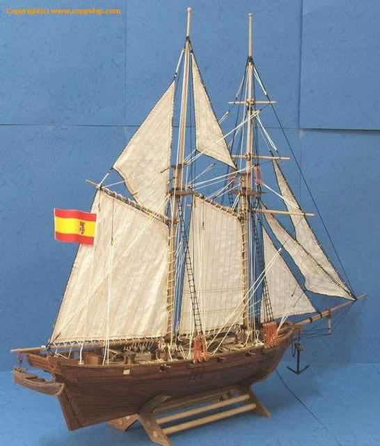 """【供应实木帆船拼装套材--西班牙""""哈尔科号""""】上海套"""