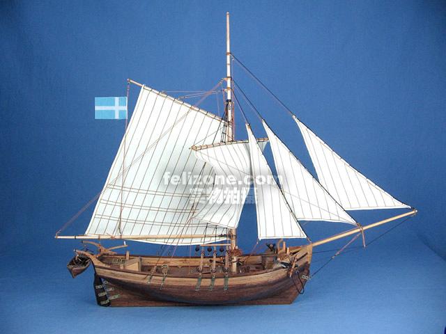 船体部分提供了基础架构和木条