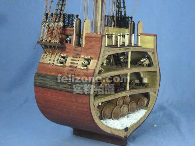 三桅帆船详细结构图