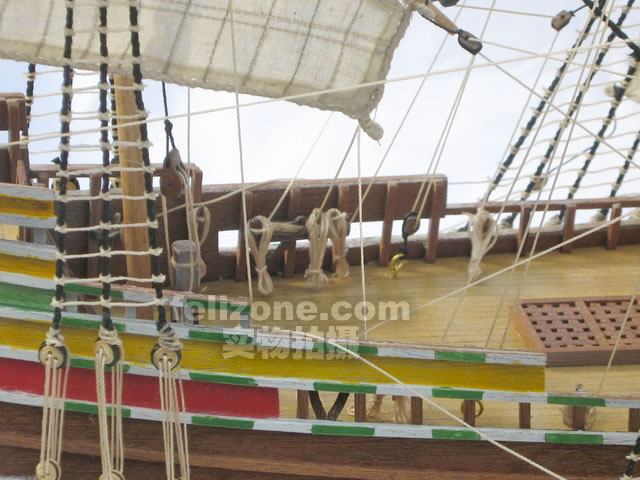 航海模型-供应实木帆船拼装套材--五月花号1型-航海尽