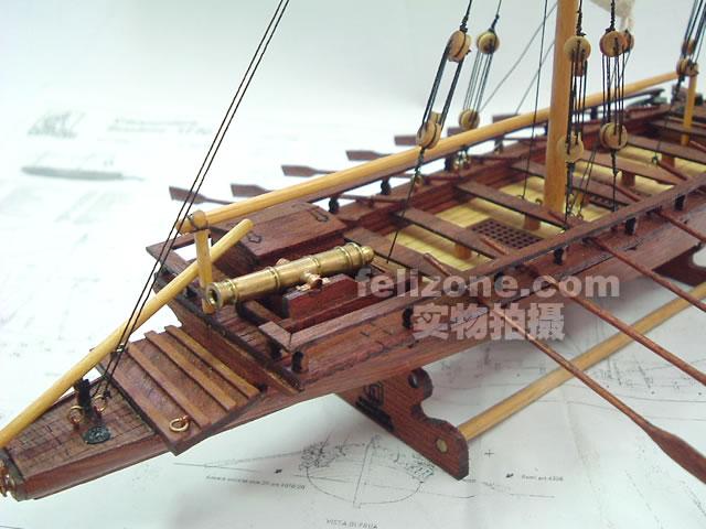 航海模型-供应实木帆船拼装套材--瑞典内河炮艇-航海