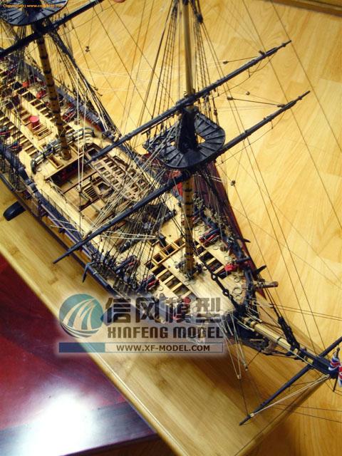 信风模型 木质帆船模型拼装套材