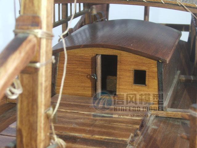 静态模型摆件摆设 船模民用船木质船 中国特色古代